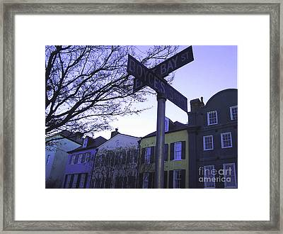 Framed Print featuring the photograph Night In Savannah by Andrea Anderegg