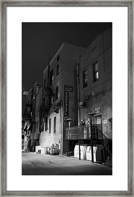 Framed Print featuring the photograph Night In The Alley by James Bethanis