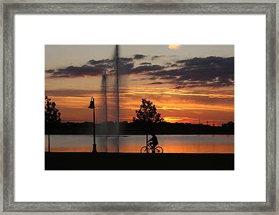 Night Is Comming Framed Print