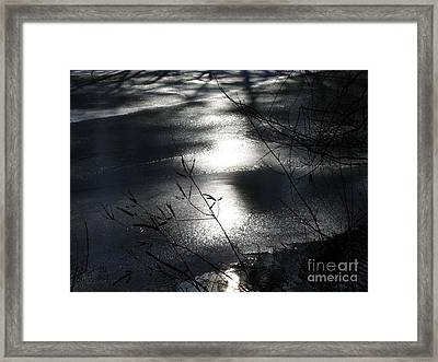 Night Lake Framed Print