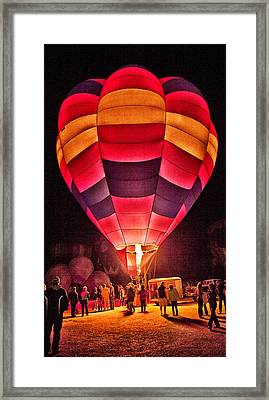 Framed Print featuring the photograph Night Lighting Of Ballon by James Bethanis