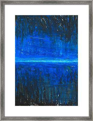 Night Line Framed Print by Kazuya Akimoto