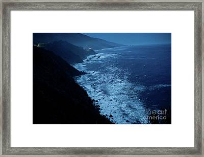 Night Magic In Big Sur Framed Print by Rossi Love