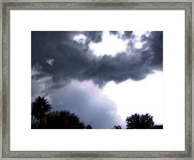 Night Of Light Framed Print by Dennis Dugan