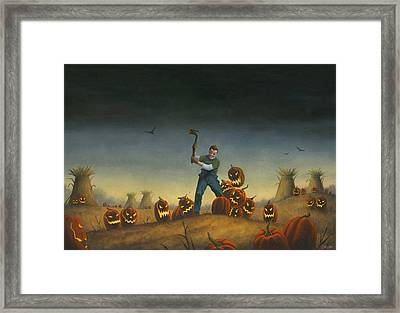 Night Of The Jack-o-lanterns Framed Print by Stacy Drum
