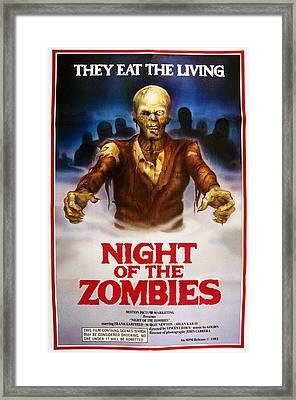 Night Of The Zombies, Aka Virus, Aka Framed Print by Everett