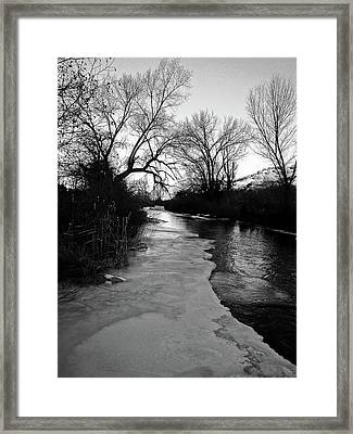 Night On The Embudo Framed Print