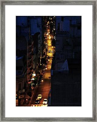 Night Framed Print by Osvaldo Hamer