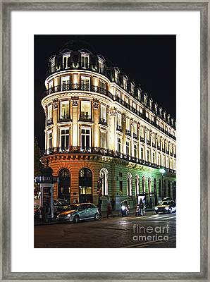 Night Paris Framed Print