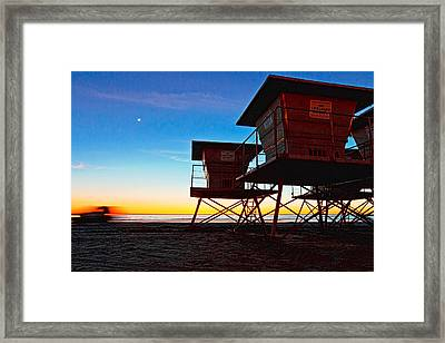 Night Patrol Framed Print by Donna Pagakis