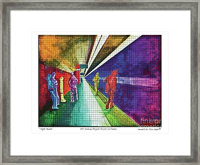 Night People Framed Print