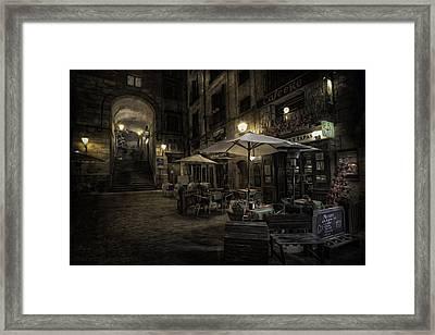 Night Plaza Framed Print by Torkil Storli