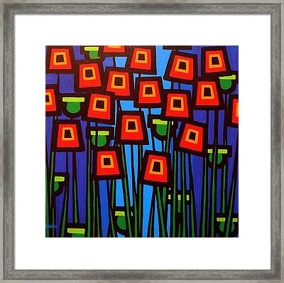 Night Poppies Framed Print by John  Nolan
