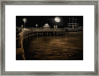 Night Port Framed Print by Michael Cleere