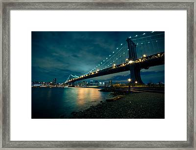 Night Reflections Framed Print by Jonatan Martin