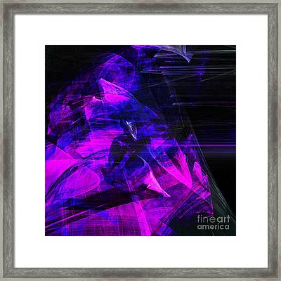 Night Rider . Square . A120423.936.693 Framed Print by Wingsdomain Art and Photography