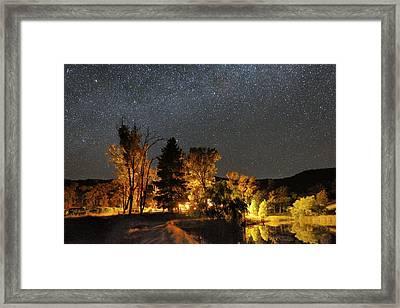 Night Sky, Australia Framed Print