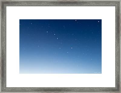 Night Sky Framed Print by Heidi Smith