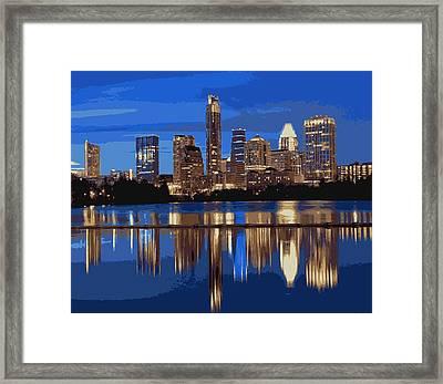 Night Skyline Color 16 Framed Print by Scott Kelley