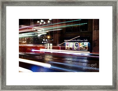 Night Street Motion Framed Print by Igor Kislev
