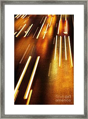 Night Traffic Framed Print by Carlos Caetano