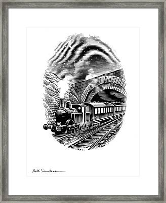 Night Train, Artwork Framed Print by Bill Sanderson
