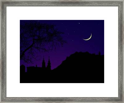 Night View Of Graz Framed Print