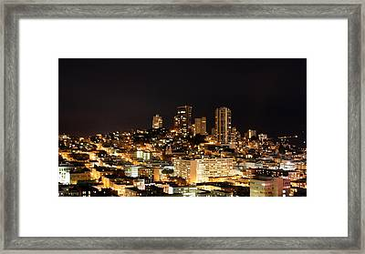 Night View Of San Francisco Framed Print by Luiz Felipe Castro