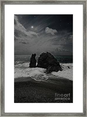 Night Waves Framed Print by Virginia Furness