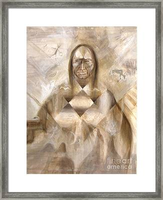 Star Priest Framed Print by Charles B Mitchell