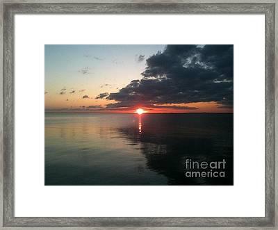 Nightfall Approahes Framed Print