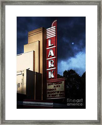Nightfall At The Lark - Larkspur California - 5d18482 Framed Print by Wingsdomain Art and Photography