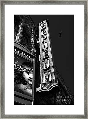 Nightfall At The Orpheum - San Francisco California - 5d17991 - Black And White Framed Print