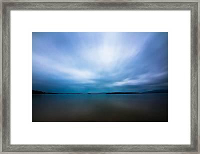 Nightfall On The Lake II Framed Print