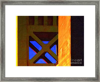 Nightfall Over Sacramento In Abstract . Vision 3 Framed Print by Wingsdomain Art and Photography