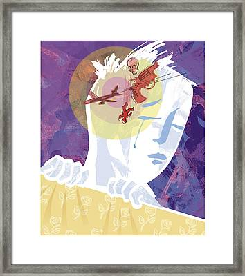 Nightmare, Conceptual Image Framed Print by Paul Brown