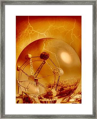 Nightmare Park Framed Print by Beto Machado