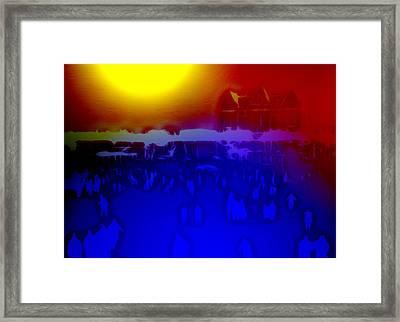 Nightskating In Central Park Framed Print by Steve K