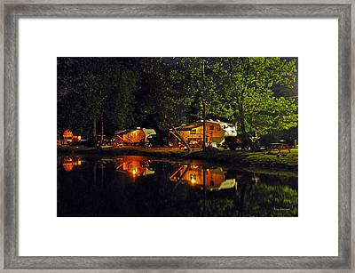 Nighttime In The Campground Framed Print