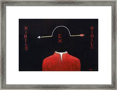 Nihilo Ex Nihilo Framed Print by Canis Canon