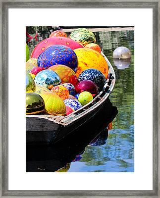 Niijima Floats Framed Print by Elizabeth Hart