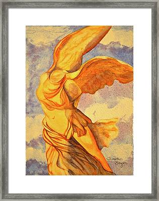 Framed Print featuring the painting Nike Goddess Of Victory by Teresa Beyer