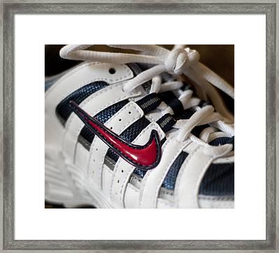 Nike Framed Print by Malania Hammer