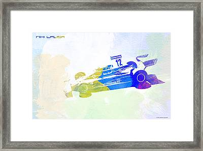 Niki Lauda Framed Print by Naxart Studio