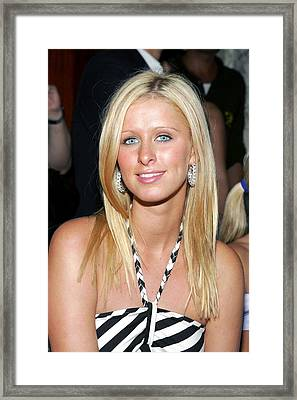 Nikki Hilton At Arrivals For Alvin Framed Print by Everett