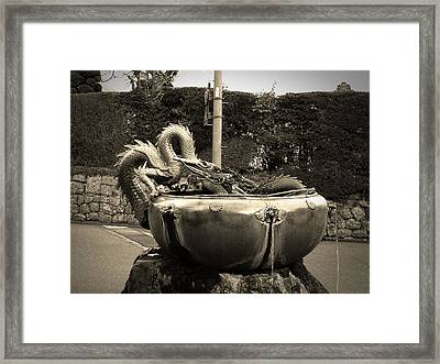 Nikko Fountain Framed Print by Naxart Studio