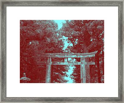 Nikko Gate Framed Print by Naxart Studio