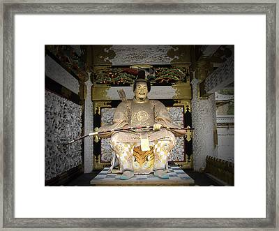 Nikko Golden Sculpture Front Framed Print by Naxart Studio