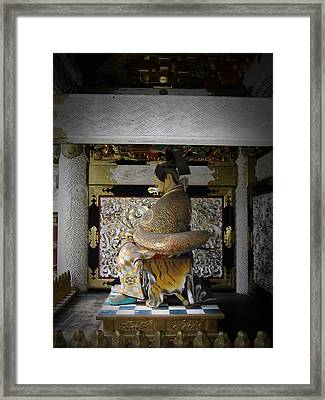 Nikko Golden Sculpture Framed Print by Naxart Studio