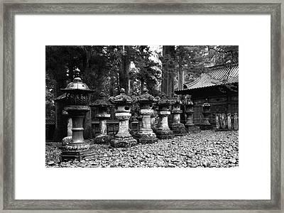 Nikko Lanterns Framed Print by Don Ellis